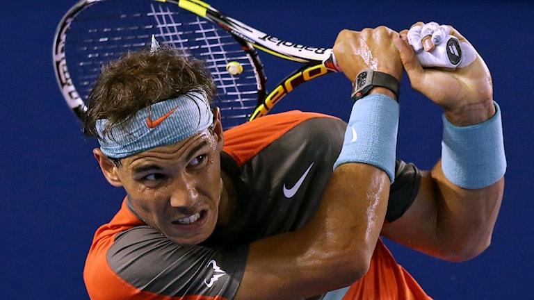 Rafael Nadal i Australian Open. Foto: Aaron Favila/TT.