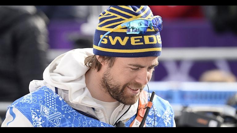 SOCHI 20140211 Sweden's Cross-Country coach Rikard Grip during the Men's Sprint Free Qualification at the 2014 Winter Olympics, Tuesday, Feb. 11, 2014, in Krasnaya Polyana, Russia. Foto: Maja Suslin / TT