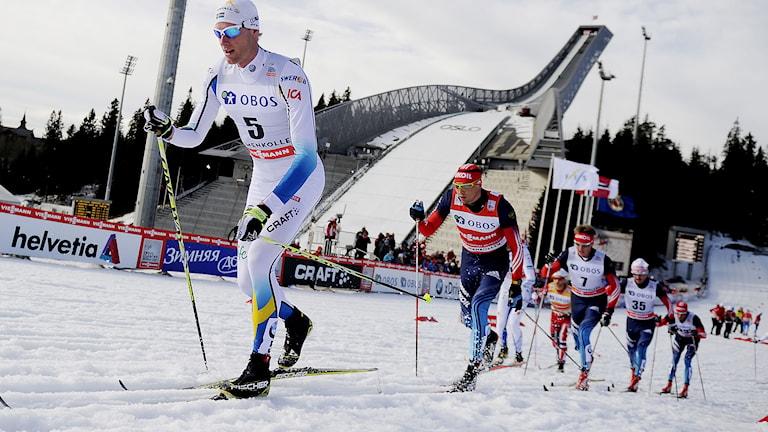 Daniel Richardsson, vinnare av femmilen i Holmenkollen 2014. Foto: Jon Olav Nesvold/TT.