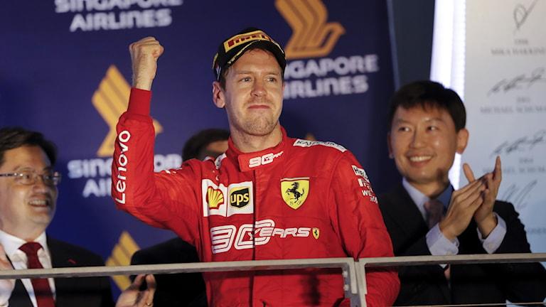 Sebastian Vettel vann Singapores GP.