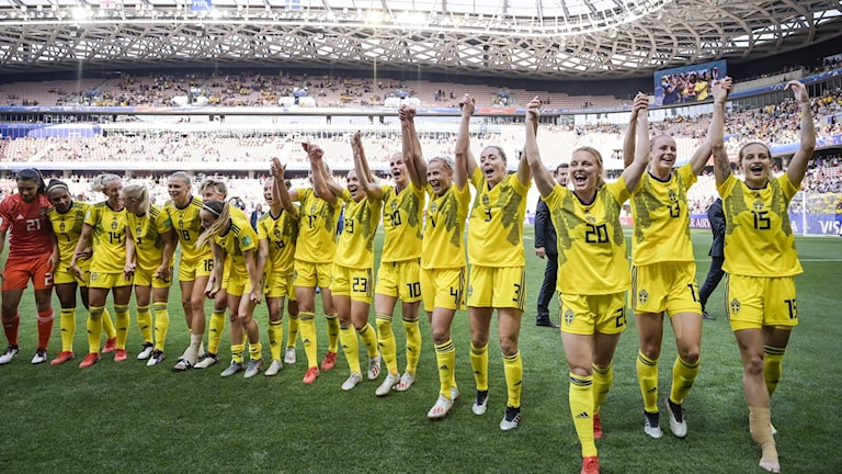 Sveriges damlandslag efter VM-bronset.