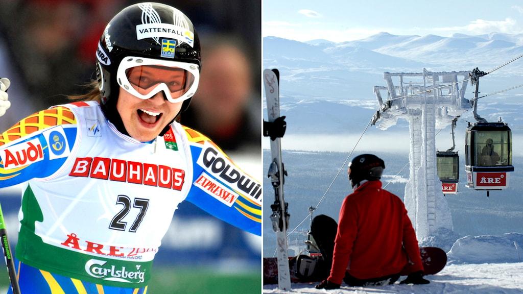 Anja Pärson hade stor succé vid VM i Åre 2007