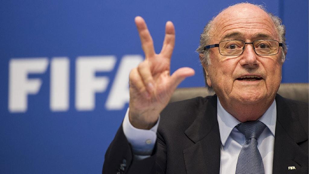 2013 Fifas president Sepp Blatter. Foto: Ennio Leanza/TT