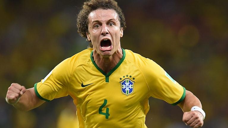 David Luiz jublar.