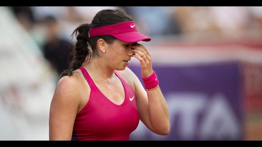 BÅSTAD 20140716 Sofia Arvidsson förlorade med 2-1 i set mot Silvia Soler-Espinosa (SPA) i Collector Swedish Open. FOTO Björn Larsson Rosvall / TT