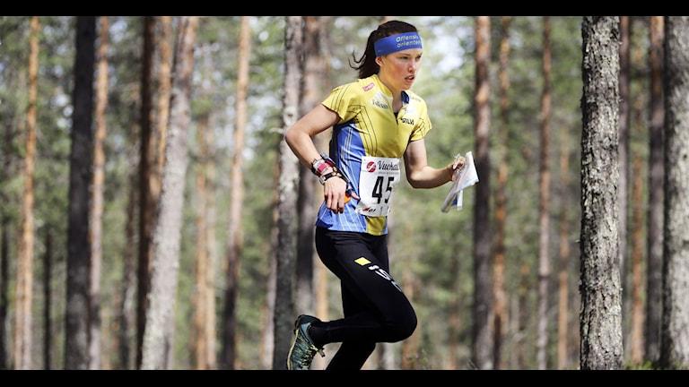 VUOKATTI 20130709 Tove Alexandersson tog silver i damernas långdistans i Finska Vuokatti där orienterings vm avgörs. Foto: Sören Andersson / SCANPIX