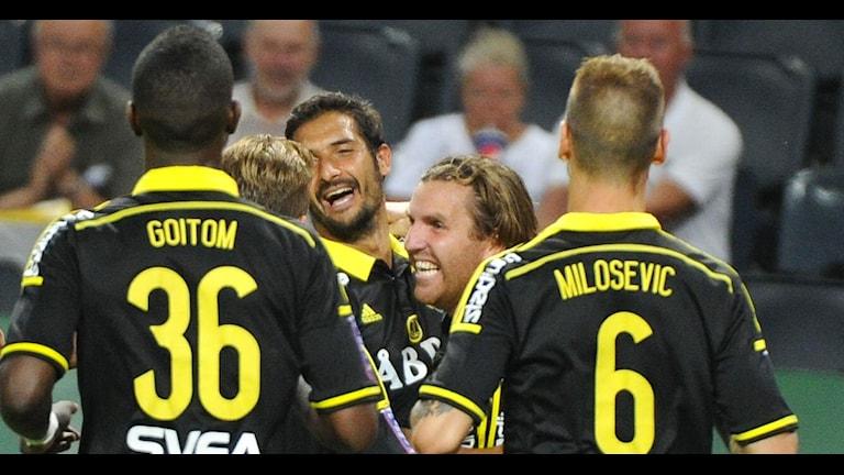 AIK jublar Foto: Annika af Klercker / TT
