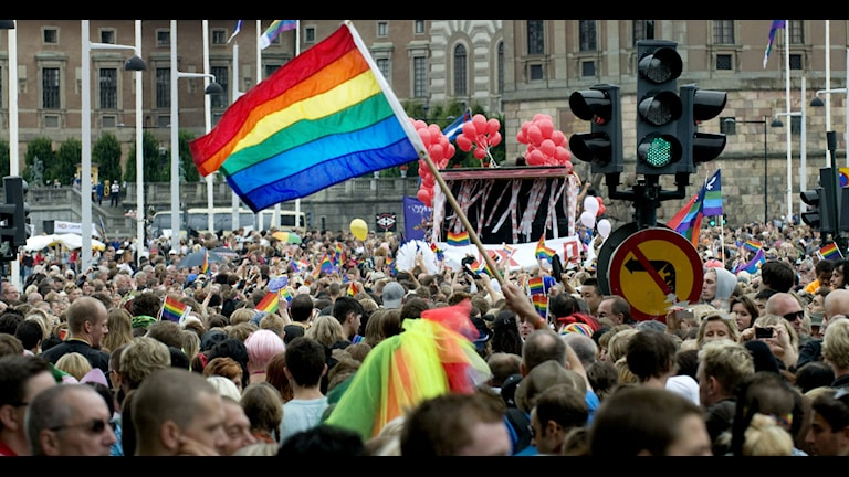 STOCKHOLM 20090801 : Årets prideparad gick i Stockholm på lördagen. Foto: Gunnar Lundmark / SvD / SCANPIX