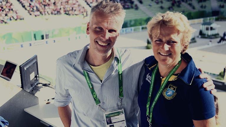 Radiosportens Christian Olsson och Maria Gretzer
