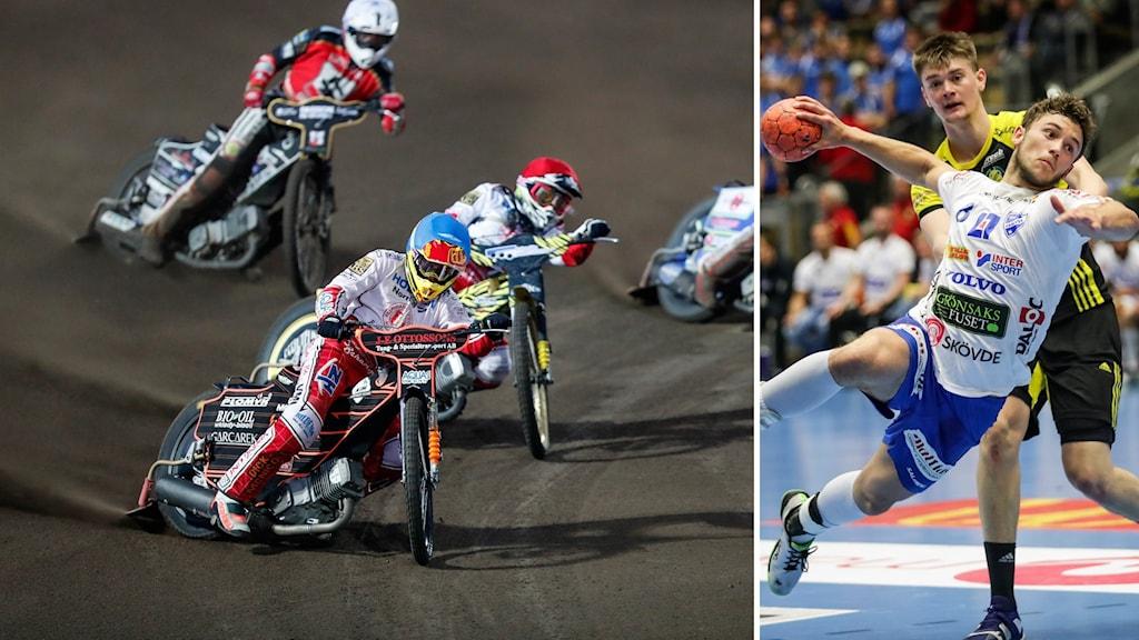 Speedwaymatch samt Skövdes Viktor Ljungkvist.