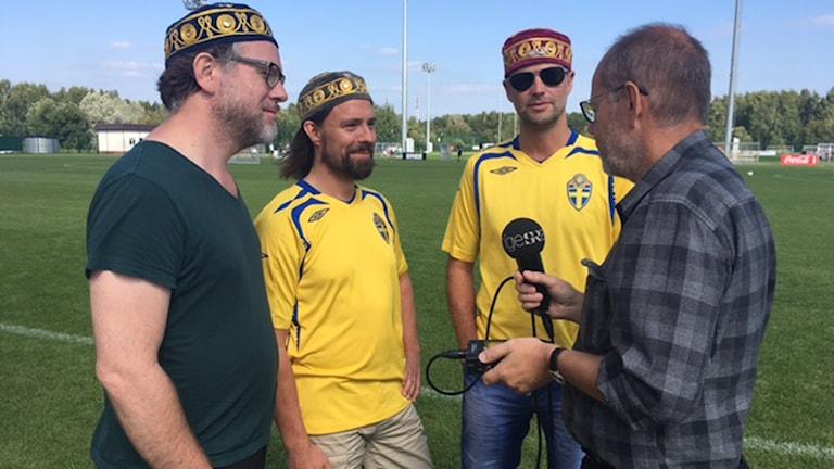 Dag Malmqvist intervjuar Jonas Nyman, Henrik Hannesjö och Henrik Nordin.
