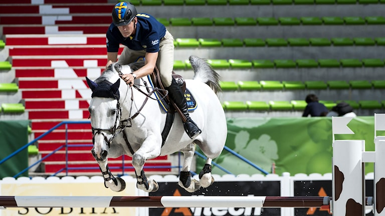 Arkivbild. Peder Fredricson på hästen Sibon. Foto: Pontus Lundahl/TT