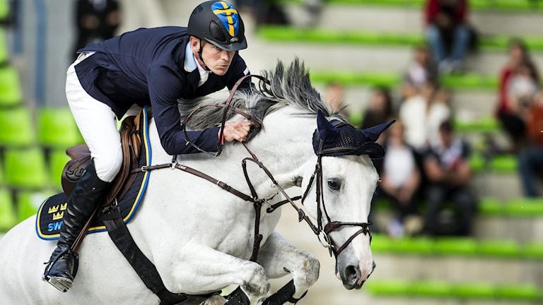 Peder Fredricsson och Sibon under ryttar-VM. Foto: Pontus Lundahl/TT