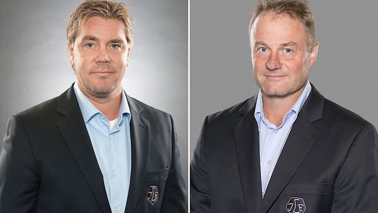 Tommy Salo (t.v.) och Kjell Kruse, Leksands IF. Foton: TT.