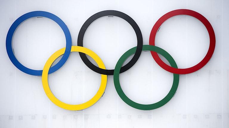 SOCHI 20140217 Olympic ring´s in Krasnaya Polyana, Russia, during the Sochi 2014 Winter Olympics February 17, 2014. Foto: Maja Suslin / TT