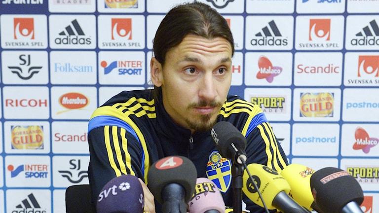 Presskonferens med Zlatan Ibrahimovic. Foto: Janerik Henriksson/TT