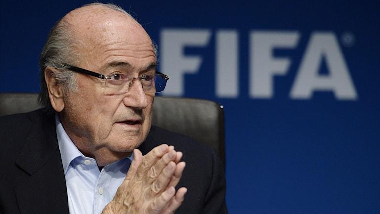Fifa-bossen Sepp Blatter. Foto: Steffen Schmidt/AP/TT