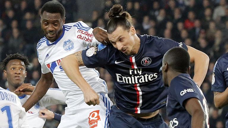 Zlatan Ibrahimovic tillbaka i spel efter skadan. Foto: Francois Mori/TT.