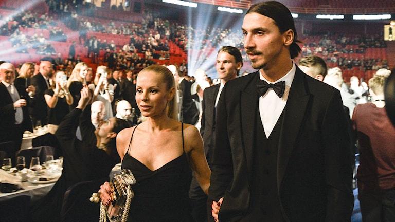 Zlatan Ibrahimovic och Helena Seger. Foto: Anders Wiklund/TT