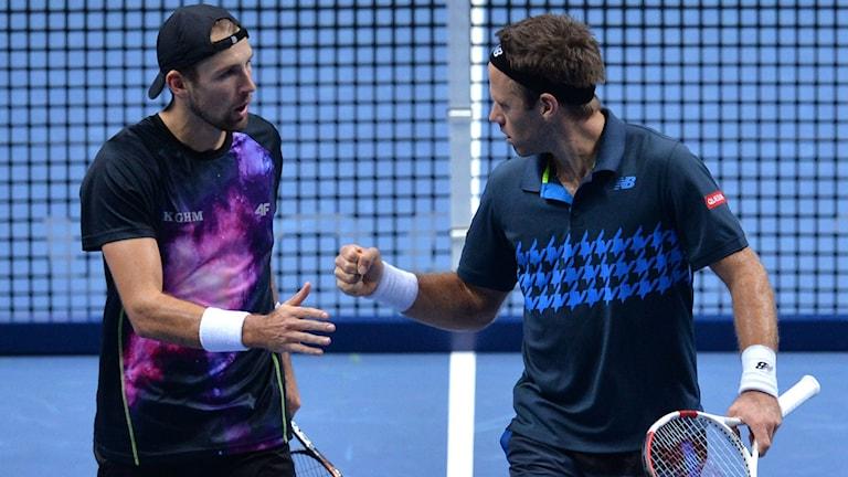 Kubot och Lindstedt. Foto: Glyn Kirk/AFP/TT
