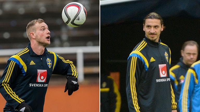 John Guidetti och Zlatan Ibrahimovic