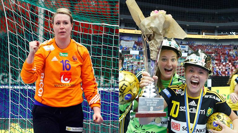 Cecilia Grubström och Johanna Bundsen (t.v. i den högra bilden)