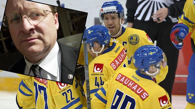 Peter Forsberg, vice ordf Svenska ishockeyförbundet. Foto: TT. Collage: Radiosporten
