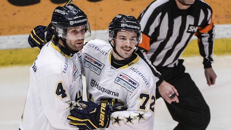 Marcus Nilson (t.v.) och Patrik Carlsson