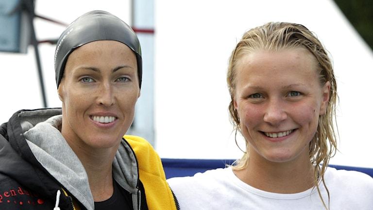 2010 SM Simning i Malmö. Therese Alshammar och Sarah Sjöström. Foto Stig-Åke Jönsson / TT