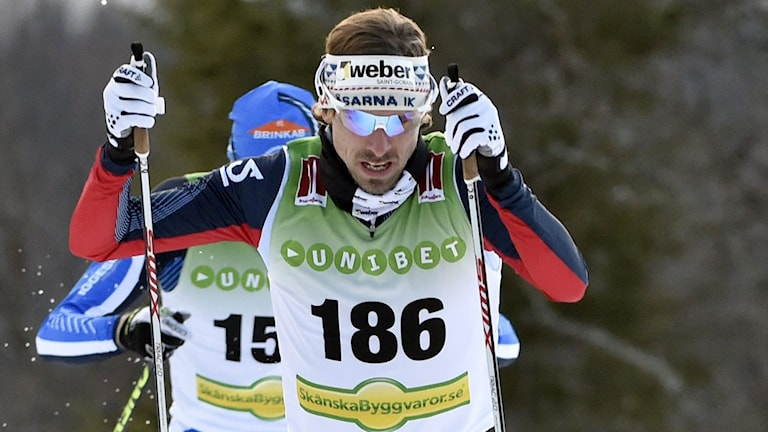 2014, Johan Olsson vann i Bruksvallarna. Foto: TT Nyhetsbyrån