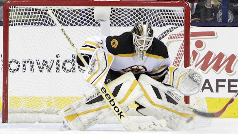 Niklas Svedberg, Boston Bruins. Foto: Jay LaPrete/TT.
