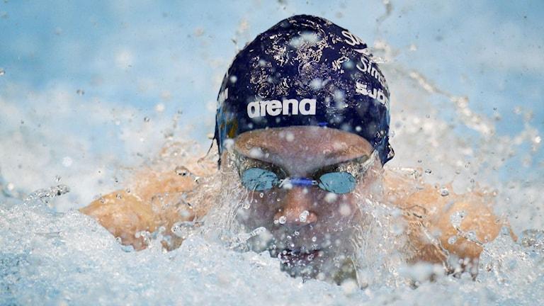 Sarah Sjöström under sim-SM 2014