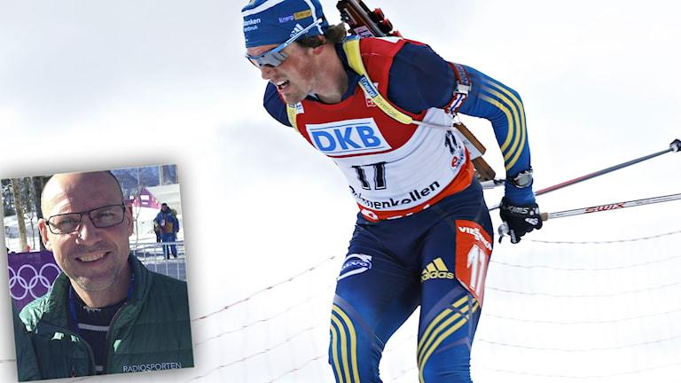 Fredrik Lindström och (infälld) Torgny Mogren. Foton TT och SR.