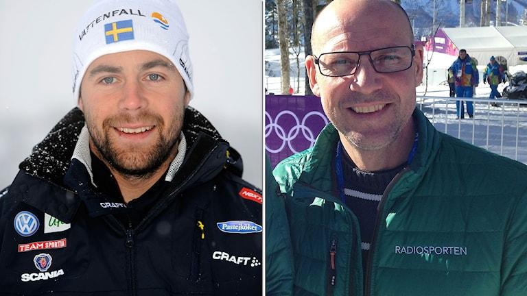 Förbundskapten Rikard Grip och Torgny Mogren. Foton: TT och SR.