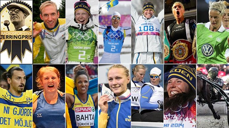 Collage Jerringpriset 2014. Foto TT, collage SR.