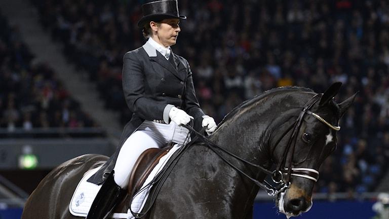 2014, Tinne Vilhelmson Silfvén på hästen Don Auriello. Foto: TT Nyhetsbyrån
