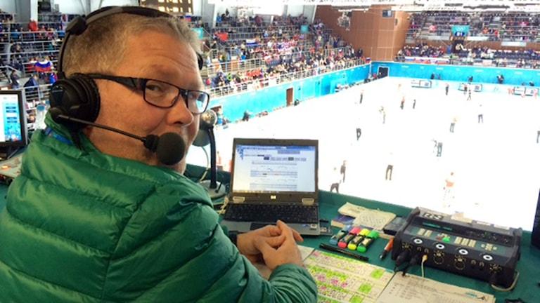 Mats Fagerström under OS i Sotji. Foto: SR