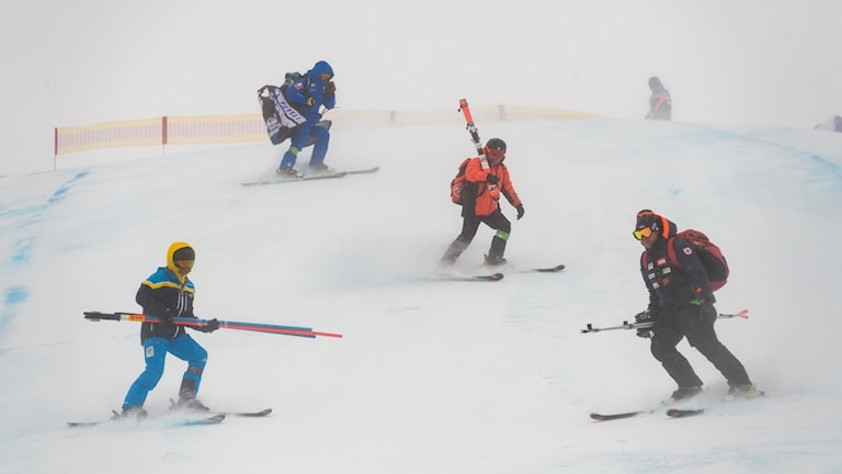 Vädret har ställt till det i St Moritz.
