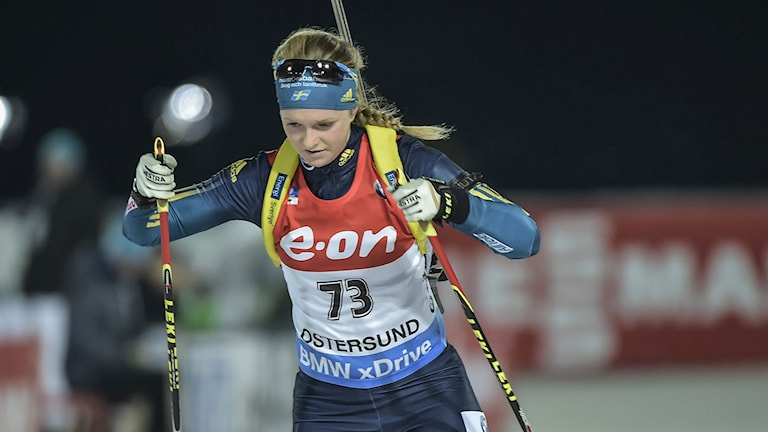 Mona Brorsson under tävlingarna i Östersund. Foto: Robert Henriksson/TT