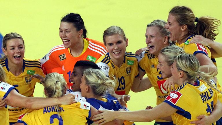 Sverige vann mot Kroatien. Foto: Aleksandar Djorovic/TT