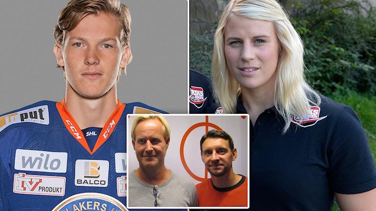Gustav Rydahl, Jenni Asserholt, Magnus Wahlman och Kristofer Ottosson. Foton: TT och SR.