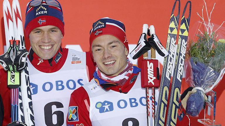 Pål Golberg (t.v.) och Finn Hågen Krogh. Foto: Terje Pedersen/TT.
