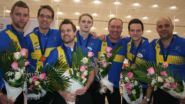 Det svenska laget tog VM-brons. Foto: Svenska bowlingförbundet