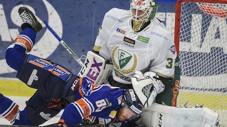 Fredrik Petterson-Wentzel mot Liam Reddox. Foto: Mikael Fritzon/TT