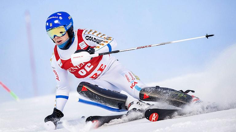 Calle Lindh i Åres slalom. Foto: Marcus Ericsson / TT
