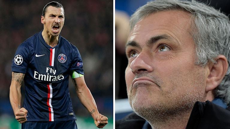 Zlatan och Mourinho