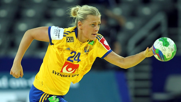Nathalie Hagman i handbolls-EM. Foto: Aleksandar Djorovic/TT