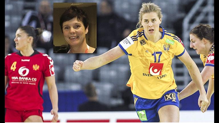 Sverige möter Montenegro i bronsmatchen. Infälld: Christina Ström Foto: TT/SR