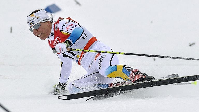 2014, Charlotte Kalla. Foto: TT Nyhetsbyrån