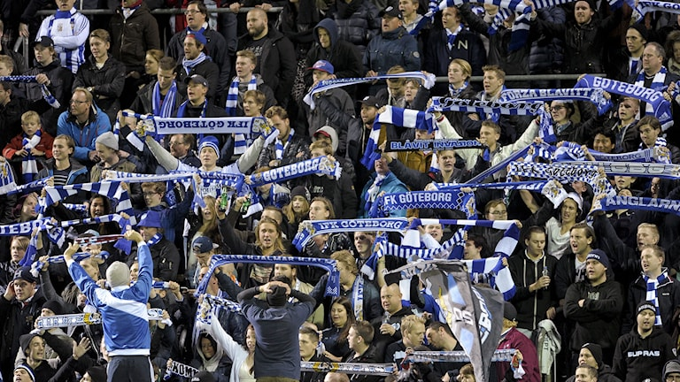 IFK Göteborgs fans under match mot Helsingborg.